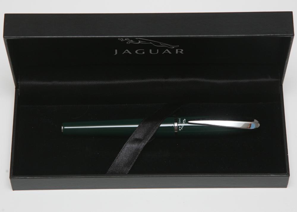 Jaguar Text and  Logo Carbon Fiber Ballpoint Pen  Real !!!